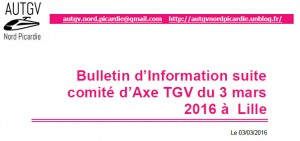 Bulletin Information 3 mars 2016